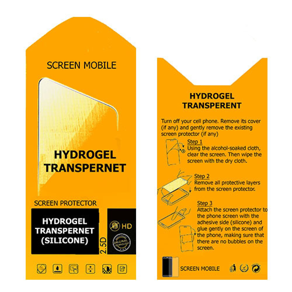 Lenovo A3690 Screen Protector Hydrogel Transparent (Silicone) One Unit Screen Mobile
