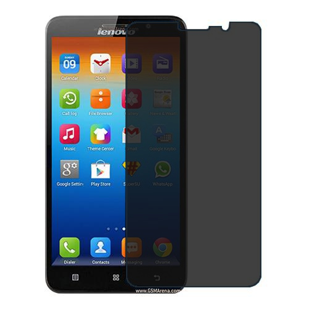 Lenovo A850+ Screen Protector Hydrogel Privacy (Silicone) One Unit Screen Mobile