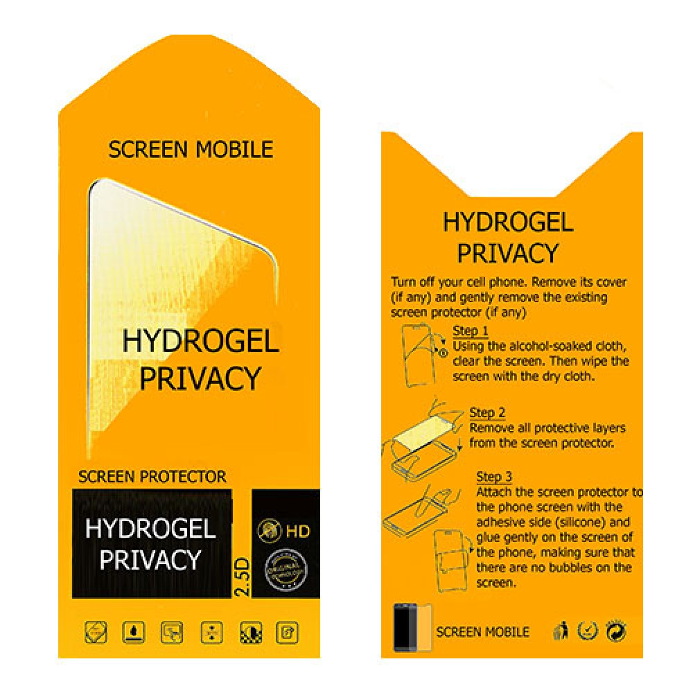 Lenovo Yoga Tab 3 8.0 Screen Protector Hydrogel Privacy (Silicone) One Unit Screen Mobile