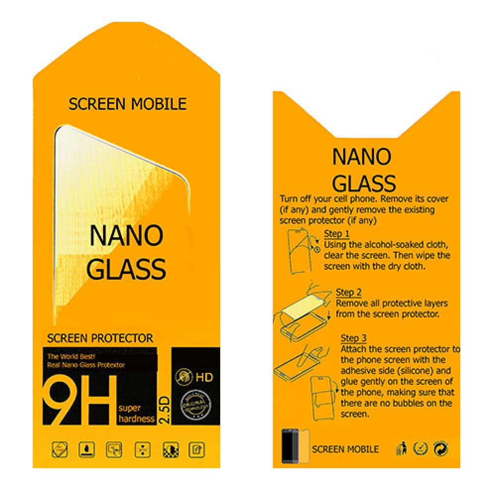 Realme 6 nano Glass 9H screen protector five units Screen Mobile